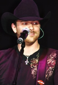 Chris Young talks to fans and has a run-in with sheep