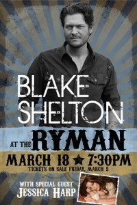 Win an autographed Blake Shelton CD & show poster