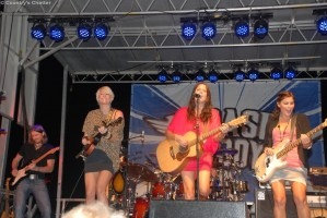 Australian group, The McClymonts, on stage at the Washington County (Va.) Fair