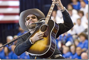 "Hank Williams Jr., known to many American football fans for his ""Monday Night Football Song,"" decided to change the lyrics to ""All my Sarah friends are coming over tonight."""