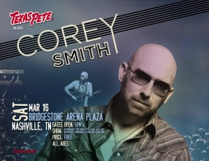 Corey Smith kicks off March Madness with free concert at Bridgestone Arena Plaza on March 16