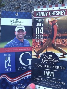 Kenny Chesney July 4 concert at 2013 Greenbrier Classic