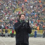 Austin Webb Performs National Anthem At Lambeau Field