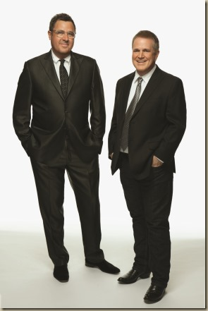 Vince Gill Paul Franklin - Bakersfield photo vertical in suits