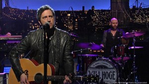 Will Hoge performs top-selling hit Strong on Late Show with David Letterman