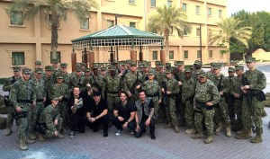 Parmalee entertains U.S. Military Troops in six countries in nine days