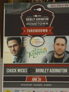 Contest:  Win tickets to attend 3rd annual Hometown Throwdown, with headliner Chuck Wicks, hosted by Brinley Addington