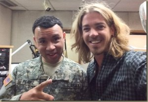 Bucky Covington entertains troops in Korea