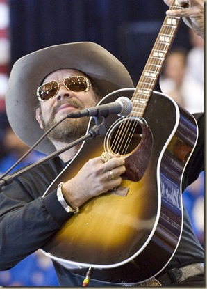 """Hank Williams Jr., known to many American football fans for his """"Monday Night Football Song,"""" decided to change the lyrics to """"All my Sarah friends are coming over tonight."""""""