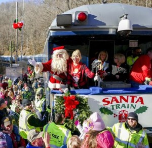 Meghan Linsey spent her Saturday on the 73rd annual Santa Train