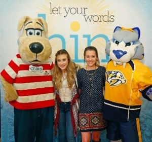 Maddie and Tae partner with Vanderbilt Children's Hospital and the Nashville Predators to launch Shine Bright campaign