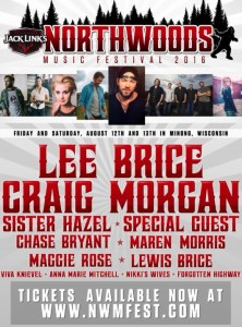 Second annual Northwoods Music Festival with Lee Brice, Craig Morgan and many more