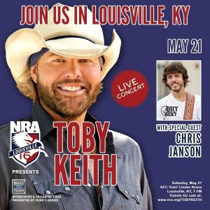 The NRA presents Toby Keith with special guest Chris Janson in Louisville, KY.