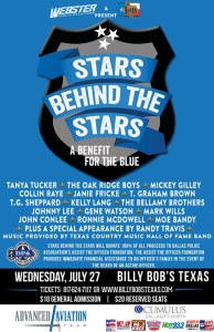 Digital RodeoTV and WhereverTV set to broadcast and stream Stars Behind the Stars Dallas Police Benefit, July 27