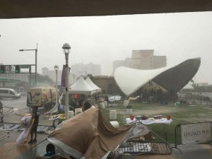Old Dominion perseveres through torrential rain to play free show for fans