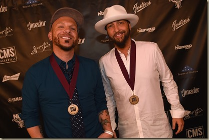 NASHVILLE, TN - NOVEMBER 01:  Chris Lucas and Preston Brust of LOCASH attend the Folds of Honor/CMS Nashville Songwriter of the Year Party during the 50th annual CMA Awards week on November 1, 2016 in Nashville, Tennessee.  (Photo by Rick Diamond/Getty Images for CMS)