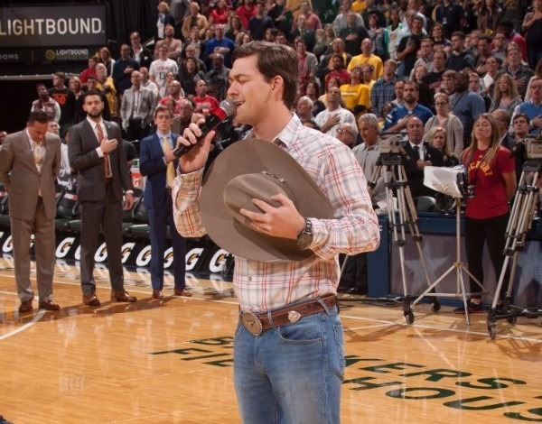 William Michael Morgan performs National Anthem at Indiana Pacers vs