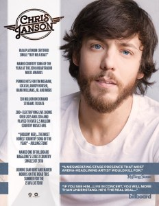 Chris Janson Hits Top 20 With 'Holdin' Her'