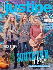 Sister act Southern Halo rocks current issue of Justine magazine