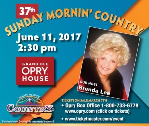 """Reminder: Music City Christian Fellowship's """"Sunday Mornin' Country""""® Event Taking Place June 11th!"""