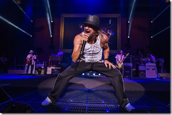 Kid Rock performs at DTE Energy Music Theater on August 7, 2015.
