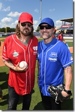 NASHVILLE, TN - JUNE 10:  Singer-songwriters Billy Ray Cyrus (L) and Craig Morgan (R) arrive at the 27th Annual City of Hope Celebrity Softball Game at First Tennessee Park on June 10, 2017 in Nashville, Tennessee.  (Photo by John Shearer/Getty Images for City Of Hope)