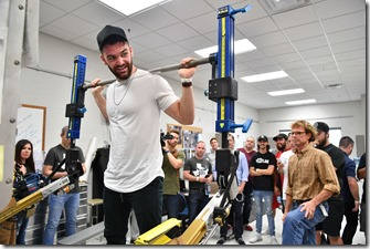 Musician Dylan Scott and Country Music Television touring JSC.  Photo Date: July 19, 2017.  Location: Building 30, 9, 26 and Mars Rock Yard.  Photographer: Robert Markowitz