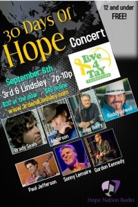 Hope Nation Radio Kicks Off Their 30 Days of Hope Campaign with the Help of Nashville's Finest Songwriters