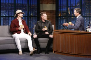 """In case you missed it:  Florida Georgia Line brings """"Smooth"""" country swagger to Late Night with Seth Meyers"""