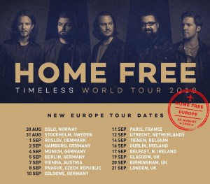 Home Free announces extensive European Tour