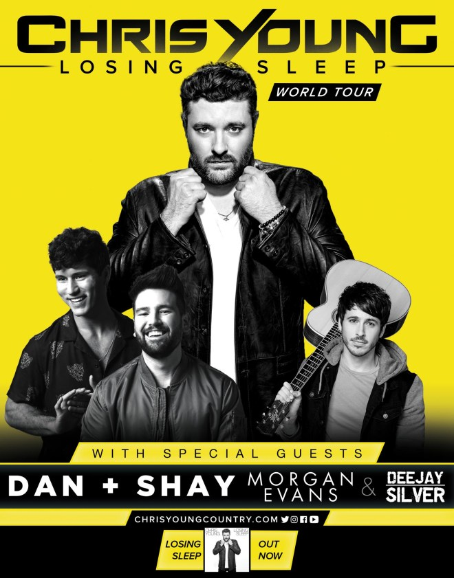 ChrisYoung 2018 Losing Sleep Tour Poster Q4