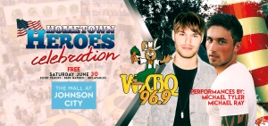 Celebrate our Hometown Heroes with Michael Ray, Michael Tyler and WXBQ