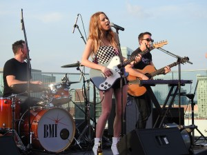 Kalie Shorr performs at BMI's Rooftop on the Row