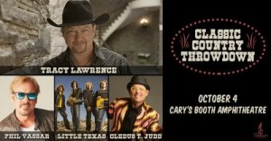 """Outback Concerts: """"Classic Country Throwdown"""" featuring Tracy Lawrence, Phil Vassar, Little Texas and Cledus T. Judd Announced for October 4 at Cary, NC's Booth Amphitheatre"""