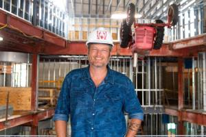 Blake Shelton shares Gatlinburg's Ole Red progress on his Facebook