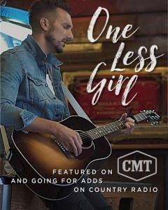 """J.D. Shelburne's debut single """"One Less Girl"""" gaining traction at country radio"""