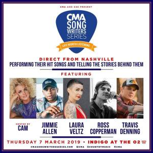 CMA Songwriter Series announces C2C London Performance ON March 7