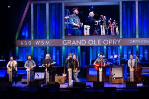 "King Calaway joined by Rick Skaggs at Grand Ole Opry for ""Seven Bridges Road"""