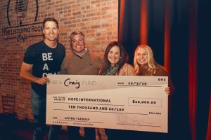Walker Hayes donates $10,000 to HOPE International through his Be A Craig Fund