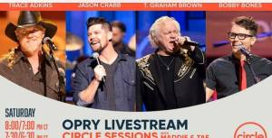 Tune In Alert: T. Graham Brown joins Trace Adkins, Jason Crabb And host Bobby Bones for a Special Easter Edition of The Grand Ole Opry, Live On Circle