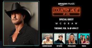 "Tim McGraw announced as headliner for ""Amazon Music Presents: Country Heat at CRS"" held during CRS 2021: The Virtual Experience"