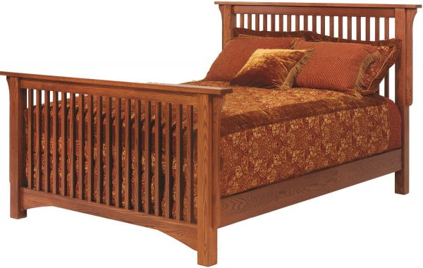 Mission Hills Oak Slat Bed Countryside Amish Furniture