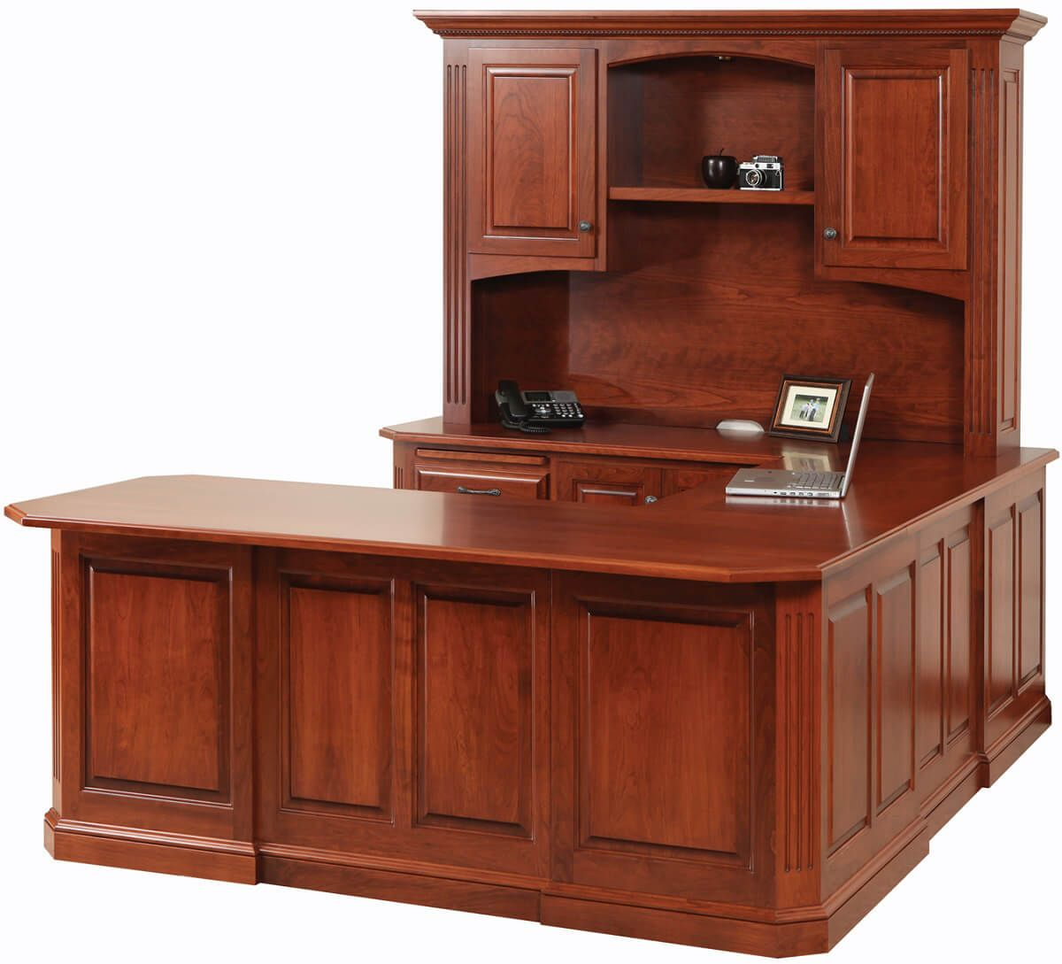 Cavalier Cherry U Shaped Desk Countryside Amish Furniture