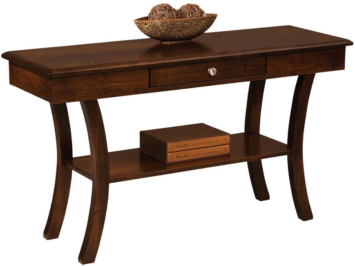 Carlton Open Long Console Table Countryside Amish Furniture