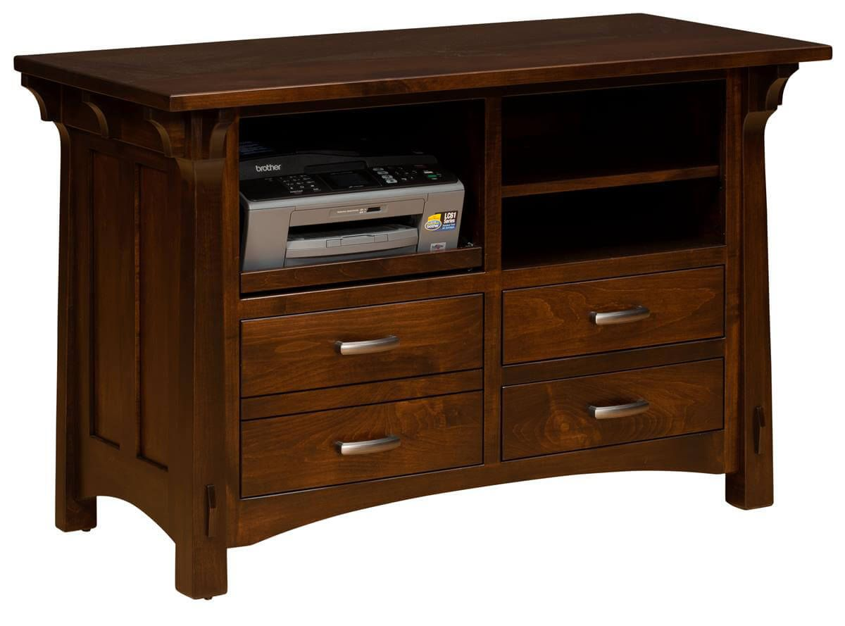 Augustana Maple Printer Stand With Storage Countryside