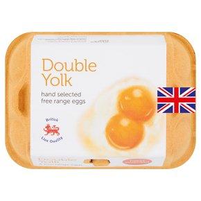 2 желтка в одном яйце. Пачка яиц с двумя желтками из магазина