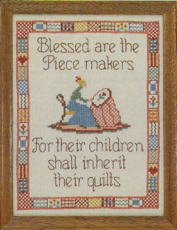 Country Stitching Quilters Prayer Stamped Cross Stitch Kit