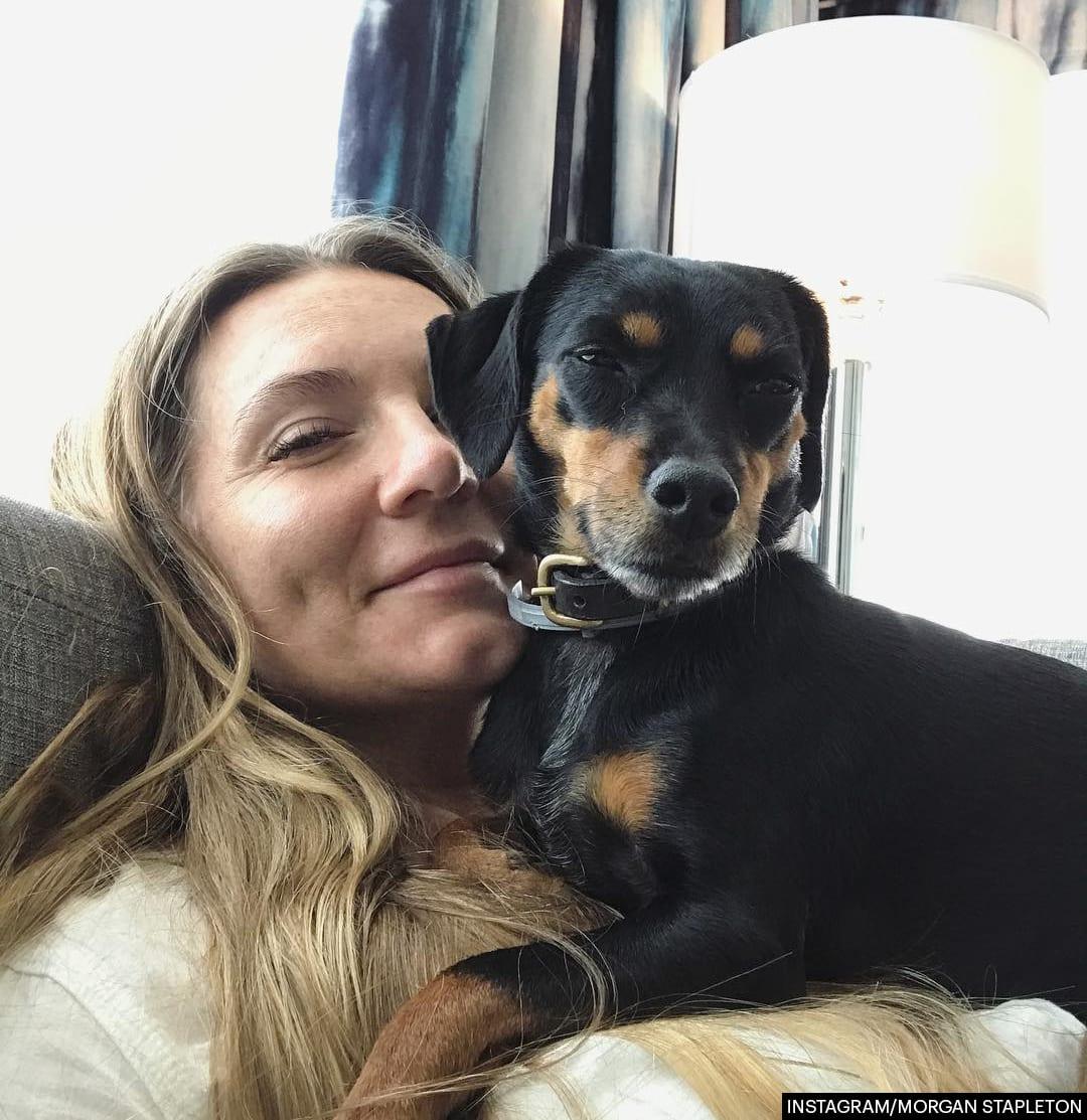 Morgane Stapleton with her dog