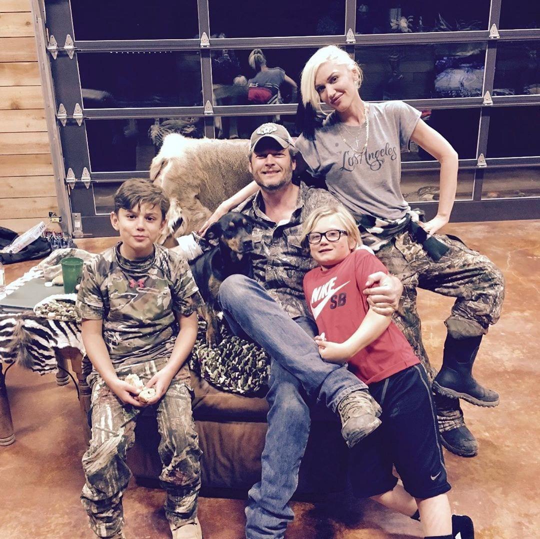 Blake Shelton, Gwen Stefani and Children