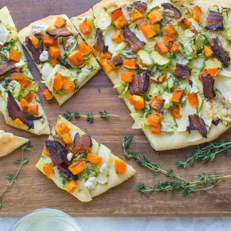 Bacon, Butternut and Blue Cheese Flatbread Southern Recipe